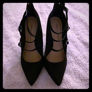 Black suede Christian Siriano size 7 1/2 4 in heel